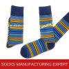 Kundenspezifische Bambusmuster-Socke der Männer