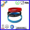Wristband del braccialetto/silicone del silicone riempito inchiostro promozionale di Debossed