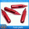 Красный с остроконечными ребристые гайки колес 12x1.5 Тюнер расширенного с остроконечными зубьями