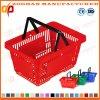 Cesta de compra portátil plástica do supermercado do baixo preço (Zhb59)