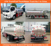 Fresh Milk Transportation Tanker를 위한 3m3 5m3 Small Milk Truck