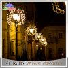 通りのポーランド人の銀製の装飾の美しい景色LEDのクリスマスの照明