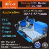 PCB de acrílico de PVC de metal blando de cobre aluminio carpintería de madera de la máquina de grabado CNC