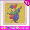 2015 Creative engraçado Puzzle Madeira brinquedo para criança, Puzzle Madeira brinquedo para crianças, Bela 9 pedaços de madeira brinquedo quebra-cabeças W14C181