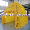 Tente gonflable hermétique extérieure jaune faite de bâche de protection de PVC de 0.9mm