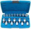 19PCS 1/2 Dr Bits Sockets & Socket Set (FY1719B-1)