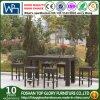 Patio moderno del PE del giardino esterno del rattan che pranza la Tabella della barra impostata (TG-JW67)