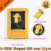 Clé de mémoire USB Shaped de singe populaire en métal pour le cadeau de promotion (YT-M)
