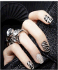 Collants de clou de collants d'art de clou de l'eau 3D d'étiquette de mode