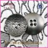 Quattro Holes Bowl Shape Alloy Button con Engrave Pattern