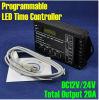 DC12V-24V 5 Channels 20A Programmable Time СИД RGB/Single Color Strip Controller Tc420