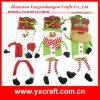Sac drôle de vin de décoration de Noël de conteneur de biscuit de la décoration de Noël (ZY14Y378-1-2-3)