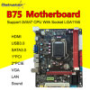 GainstarのマザーボードB75ソケットLGA1155サポートDDR3 USB3.0、SATA 3.0、HDMI+Sound+LAN+VGA