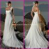 1 PC Drop Shipping Tous mondial Blanc Ivoire plage en mousseline Robe de mariée / One Fleurs Strap mesure de maternité Robes de mariée (A41)
