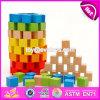 Neuer Entwurf 100 Stück-Kind-Vorschulgebäude-Spielzeug-hölzerne Blöcke für Verkauf W13A130