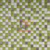 Color verde manzana fresca decoración mural mosaico de vidrio (CFC145M)