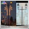 Luzes ao ar livre do motivo do diodo emissor de luz do Natal 3D da decoração do feriado de Pólo da rua