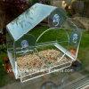 Ventana grande alimentador del pájaro con orificios de drenaje y embalaje seguro