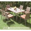 Meuble de patio à usage imperméable et matériel en rotin Chaise à manger