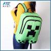 Minecraft Rucksack-Kind-Schultaschen-Segeltuch-Reißverschluss-Grün-Kriechpflanze-Rucksäcke