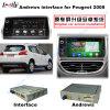 Selbst-HD videoschnittstelle unterstützen androider GPS-Navigations-Kasten für (13-16) Peugeot 2008 Google Karte/Igo