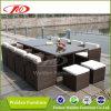 Mobília do jardim da mobília do Rattan que janta o jogo (DH-8832)