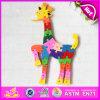 O projeto bonito do Giraffe do fornecedor novo superior caçoa o brinquedo de madeira W14I015 do enigma do alfabeto