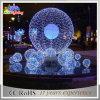 熱い販売3Dモチーフのクリスマスの巨大なサンタクロースの装飾ライト