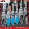 Válvula de puerta ensanchada del acero de molde