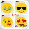 Conjunto de almofadas, Dreampark Emoji 4 Pack Smiley Emoticon almofadas de pelúcia recheadas de almofada macia amarela redonda travesseiro (13 polegadas)