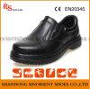 Zapatos administrativos de cuero lisos Rh076 de los zapatos de seguridad del cocinero