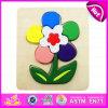 2015 bello Wooden Flower Design Wooden Puzzle Games Toy, Wooden Toy Game Puzzle all'ingrosso, Christmas Kid Game Puzzle Toy W14L023