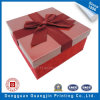 Color rojo Paper Gift Packaging Box con Fabric Decoration