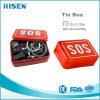 A caixa portátil da engrenagem SOS da sobrevivência do SOS ajustou 6 em 1 caixa do SOS
