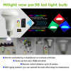 Luz esperta da mágica de WiFi PAR30 RGBW dos produtos do diodo emissor de luz
