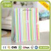 Farbige gestreifte Form-Kleidungs-Schuh-tägliche Notwendigkeits-Geschenk-Papiertüten