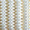 Backsplashの黄色い線形ガラスモザイクエジプトのための工場価格