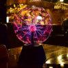 Стеклянный шарик с плазменным экраном сфере лампа освещения молнии группа