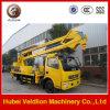 Caminhão da operação da alta altitude de Dongfeng Lifting16m, caminhão hidráulico da plataforma de trabalho aéreo do elevador do homem
