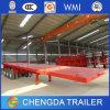 De la Chine du prix usine 3 de l'essieu 40ton de lit plat remorque semi