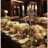 Table de mariage de cristal transparent en acrylique de pièce maîtresse de chandelier Bougeoir fleur Stand pilier de mariage
