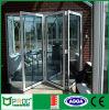 Алюминиевая дверь складчатости профиля с двойником застеклила после того как она сделана Фабрикой