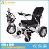 Cadeira de rodas elétrica do curso de pouco peso da dobradura com o motor 250W