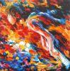 Hübscher Tänzer-handgemachtes Ölgemälde für Hauptkunst