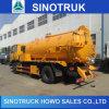 普及したSinotruk HOWO 4*2タンク下水の吸引のタンク車