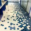 2019 em esmalte azul Hexágono Vítrea Mosaico mosaico de parede (95 x 110 mm)