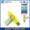 Smart Phones/Tablet PCS Yellowのための8GB Rotatable Clip OTG USB Flash Drive