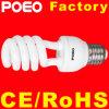 Metade espiral CFL lâmpada economizadora de energia