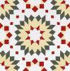 Decoratie Tile20*20cm van de Stijl van Borhemia de Rode Verglaasde