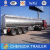 45cbm 3 차축 연료 수송 유조선 트레일러 알루미늄 유조선 트레일러